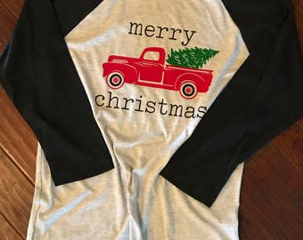 Merry  Christmas Tree Farm Truck