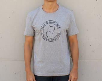 Stamp T-shirt backward