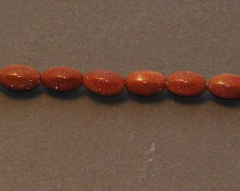 2 beads Gemstone spinning top small brown sparkly - Ref: PG 2014
