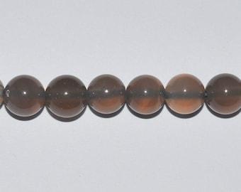 10 diameter 8mm grey agate beads