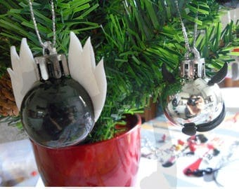Hand-decorated Christmas tree balls