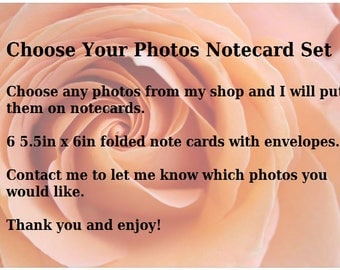 Photo Note Cards, Blank Note Cards, Choose Your Photos, Gift Set, Folded Cards, Envelopes, gifts under 20, gifts for teachers, nature photos