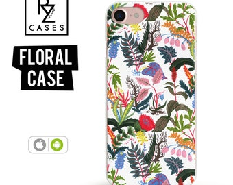 Floral Phone Case, iPhone 7 Case, Tropical Phone Case, iPhone 6s Case, Floral iPhone Case, iPhone 5 Case, iPhone 6 Plus, Samsung Galaxy S7