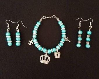 Metallic Turquoise 2 Piece Set