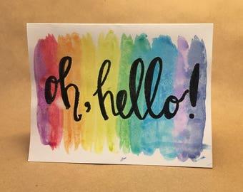 Handmade Embossed Card
