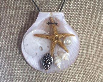 Medium Seashell Mermaid Pendant