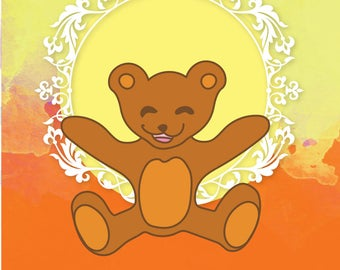 Cute Baby Bear Design Set - Clipart - Digital Download