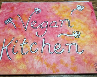 Vegan Kitchen 6x8 Watercolor