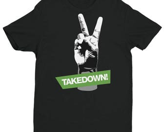 2 points for the takedown Short Sleeve Brazilian Jiu Jitsu cotton T-shirt various colors, BJJ, Grappling, nogi, Martial Arts and MMA