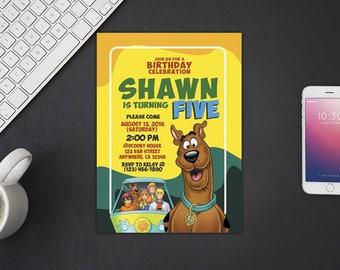 Scooby Doo Invitation, Scooby Doo Birthday, Scooby Doo Invites, Scooby Doo Party Printables, Scooby Doo Custom