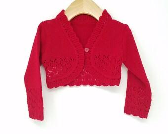 Red Bolero Sweater