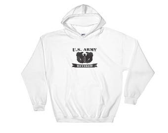 US Army Chief Warrant Officer 4 Retired Hooded Sweatshirt