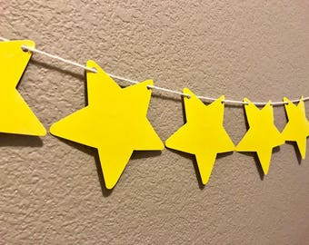 Star Banner, Yellow, Party Supplies, Party Garland, Decorations, Streamer, Sign, Kid's Birthday, Baby Shower, Gender Reveal, Twinkle Twinkle