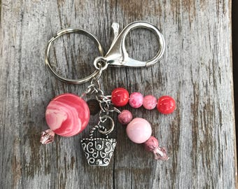 Keychains for Women, Beaded Bag Charm, Purse Charm for Handbags, Keychain with Charm, Beaded Keychain, Bag Charm, Inexpensive Gift