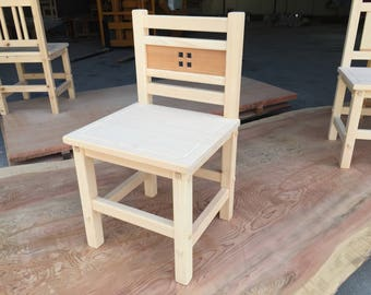 Wood chairs (four)