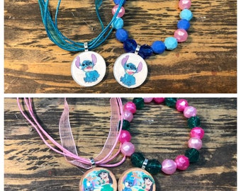 Lilo and Stitch party favors.lilo & Stitch bracelet.Lilo and stitch pendant necklace.Lilo and stitch birthday party