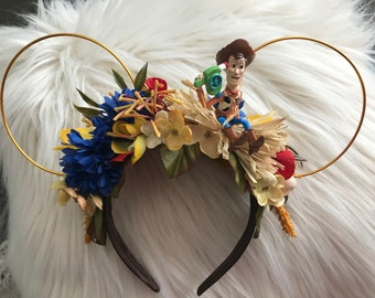 Woody Toy Story theme Flower Crown Ears
