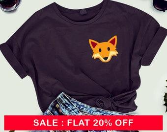 Fox shirt funny graphic tshirt pocket shirt animal tee shirt symbol tee shirt cool tee women tee shirt men tee shirt women tshirt men tshirt