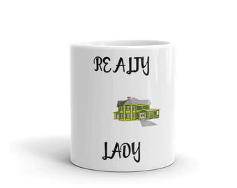 Realty Lady Spartees distressed white Mug