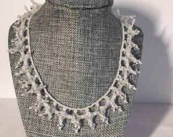 Crystal Swarovski Beaded Necklace.