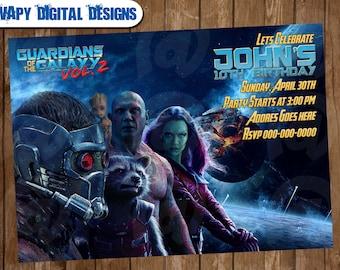 Guardians invite etsy guardians of the galaxy digital party invitation customize invite birthday thank you card stopboris Choice Image