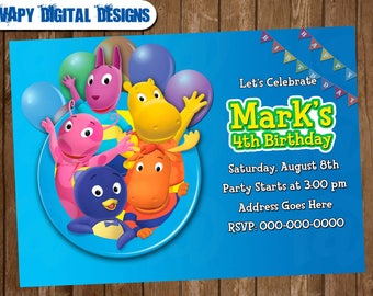 The Backyardigans Digital Party invitation customize invite birthday thank you card