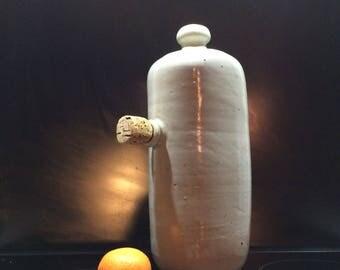 Vintage bottle warmer bed Jar stoneware crock in sandstone vintage hot water heater bed