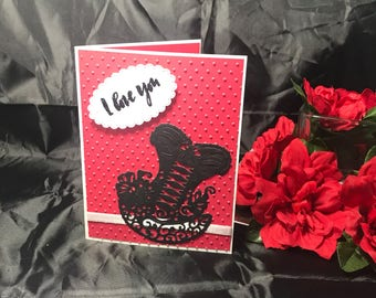 Valentines Day Corset Card