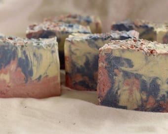 Natural Organic Homemade Pink Himalayan Salt Soap! Shea Butter, Hemp oil, coconut oil , pure essential oils, soap bar