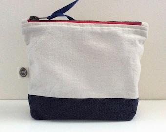 Clutch Bag Marine/ Trousse Marine