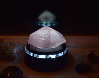 Rose quartz shaped diamond