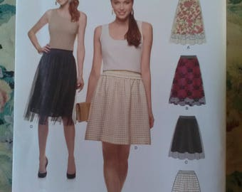 Brand new unused new look 6327 sewing pattern skirt 4 ways sizes 8 _ 20
