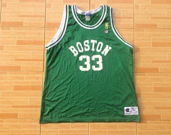 90s Champion Sleeveless Boston Basketball Mesh Rare Swag HipHop