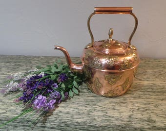 Copper Kettle French Made Bouloire Cuivre Artisan Made Kettle Water Boiler Water Tight Decorative French Copper Design Fine Copper Decor