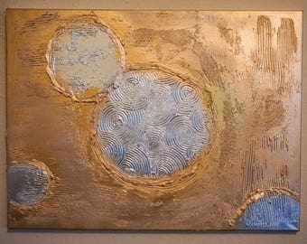 Original, textured, abstract painting / art on 18 x 24 canvas