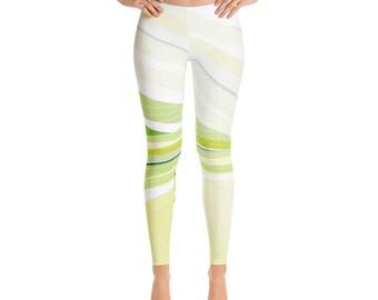 Green leggings, Athletic Leggings for women Sport leggings Gym Leggings Running leggings Colored leggings Printed leggings Colorful leggings