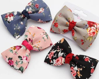 Vintage inspired cotton hair bow