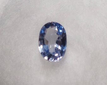 Light Blue-Lavender Sapphire .59ct Unheated Natural Oval Cut Loose