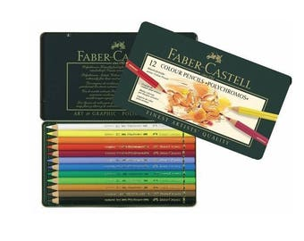 FABER-CASTELL -  12 x Colour Pencils Polychoromos
