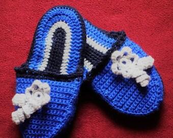 Slippers Gloves Handmade Crochet slipper home Schoes Christmas gift Birthday Gift