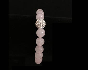 Rose Quartz Bracelet, Gemstone Bracelet, Rose Quartz