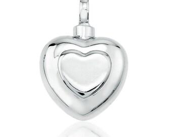 Double Heart Cremation Pendant
