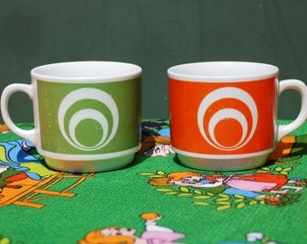 Cups-psychedelic cocoa or coffee cups from Seltmann Weiden original 70 goat's Highway!