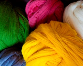 BEST SALE! Giant Chunky Yarn Arm Knitting Wet Needle Felting DIY  Bulky Thick 100% Non Mulesed Merino Wool For Arm Knit Throw Blanket Scarf.