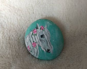 Horse lovers painted rock