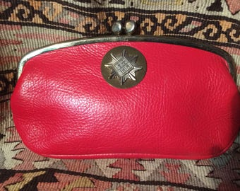 Vintage 1960's Roger Van S little red clutch bag
