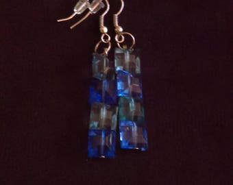 Misty blue earrings