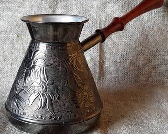 TURKISH COFFEE POT maker greek stovetop cezve ibrik jezve turka (500ml)