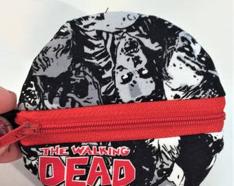 Walking Dead Round Zipper Pouch