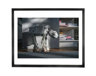 Wall Art, photograph of Star Wars At-At walker pet II - Print // Poster // Gift // Home // Wall